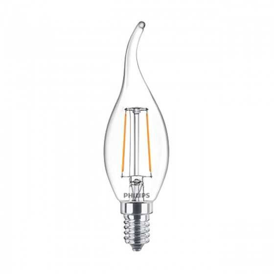 Bec LED Filament Philips 2W(25W) E14 BA35 250 lm 2700K Clar