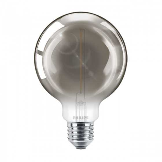 Bec LED Filament Philips 2W(11W) E27 G93 Glob 100 lm 2000K Vintage Smoky