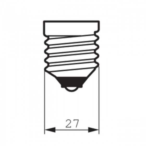 Bec LED Filament Philips 2.3W(25W) E27 ST64 250 lm 2700K Clar