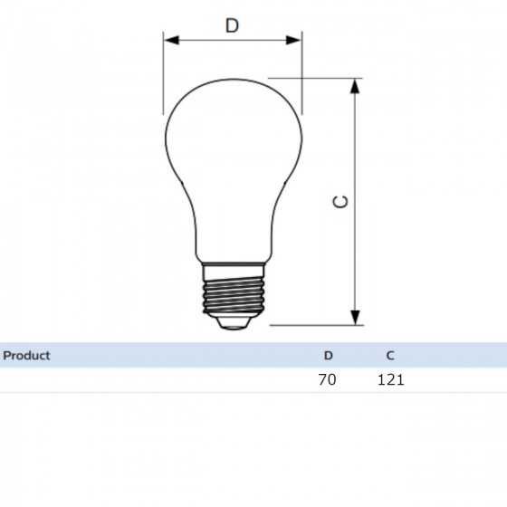 Bec LED Filament Philips 17W(150W) E27 A67 2452 lm 2700K Clar