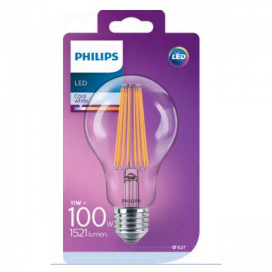Bec LED Filament Philips 11W(100W) E27 A67 1521 lm 4000K Clar