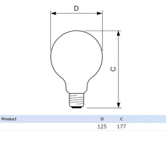 Bec LED Classic Philips 10.5W(100W) E27 G120 Glob 1521 lm 2700K Mat