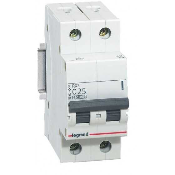 Disjunctor 419699 2P/C/25A/4.5KA