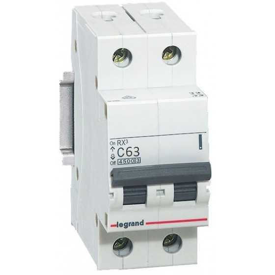 Disjunctor 419703 2P/C/63A/4.5KA